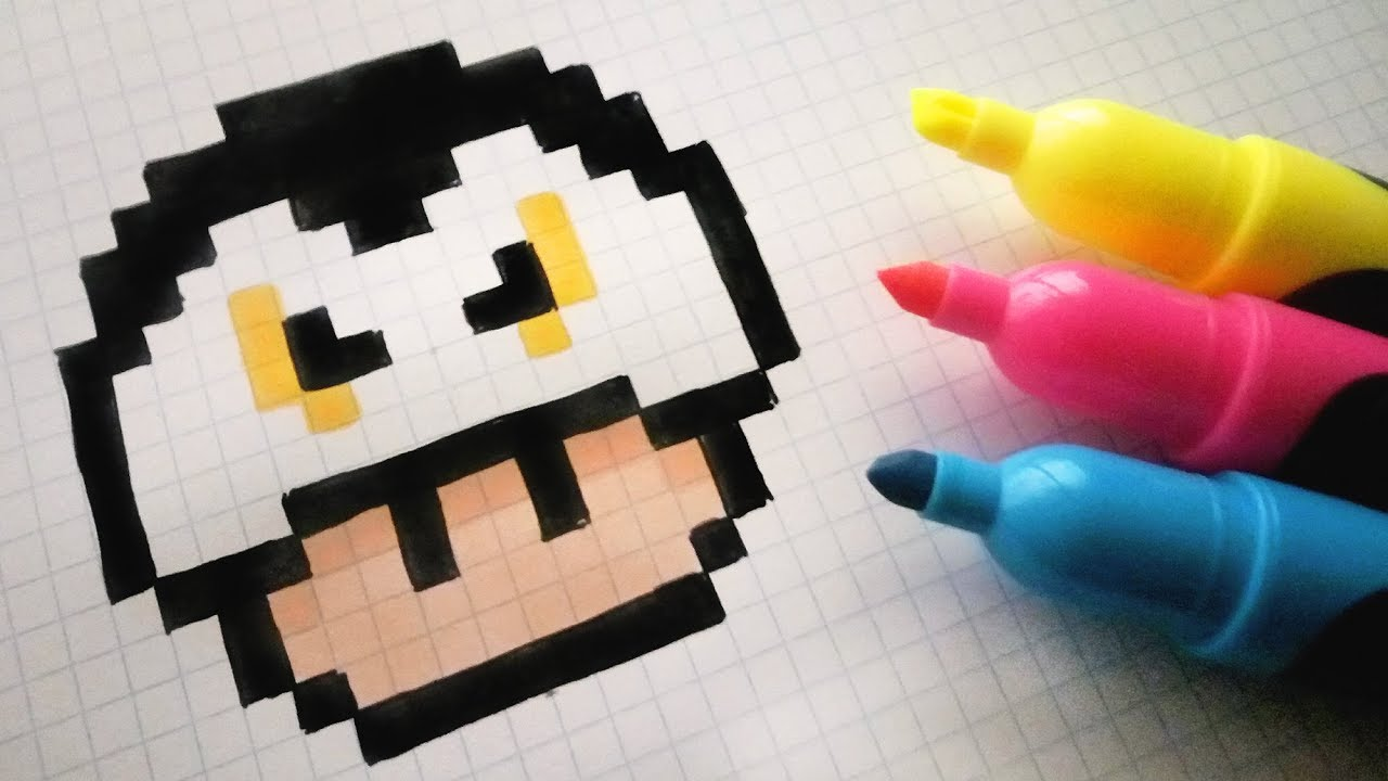 Handmade Pixel Art How To Draw A Dracula Mushroom Pixelart Halloween