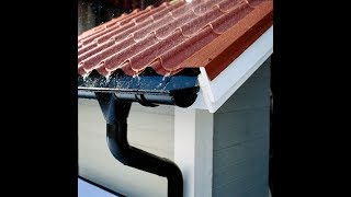 Как защитить фасад и фундамент дома от осадков? Металлическая водосточная система. Обзор, монтаж