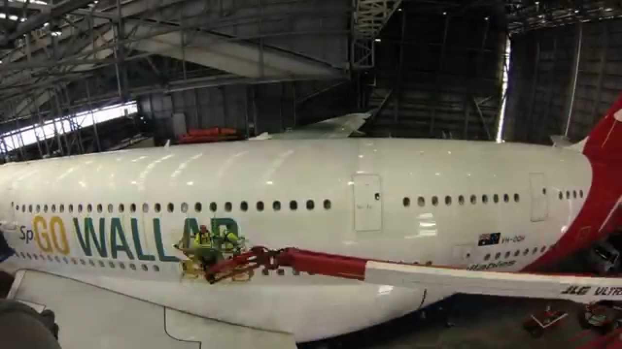 Qantas Wallabies Livery On A A380 Youtube
