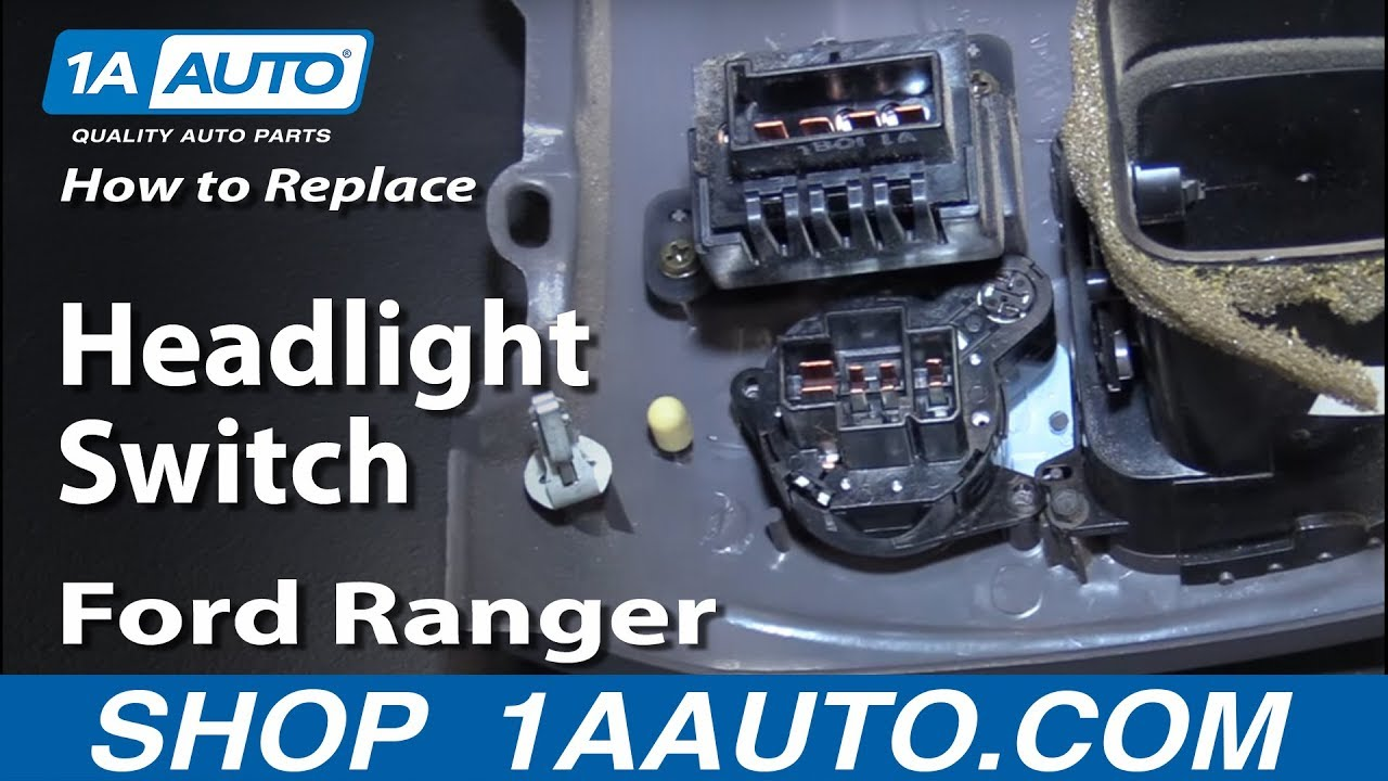 How To Replace Headlight Switch 95 06 Ford Ranger Youtube Wiring Harness