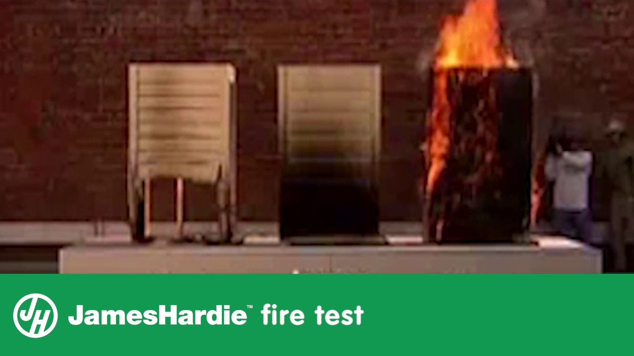 James Hardie Fire Test Youtube