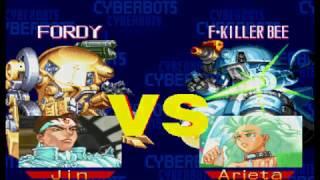 "Cyberbots: Fullmetal Madness (Arcade) ""Jin=Saotome"" Game Clear w/ Cutscenes~ (HD60)"