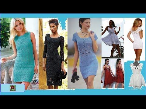 Платья  Вязание смотреть в хорошем качестве