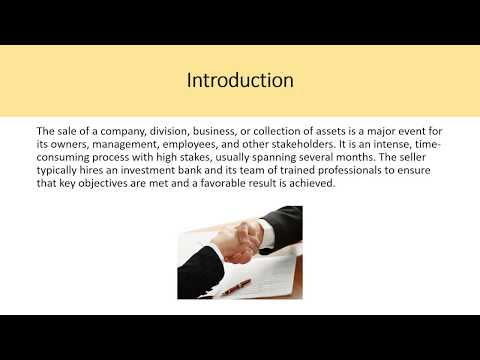 Sell-Side M&A – CH 6 Investment Banking Valuation Rosenbaum