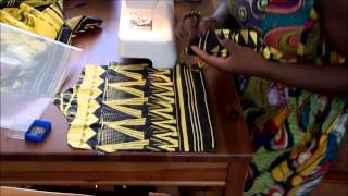 How to make an ankara african print clutch