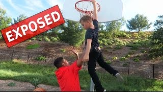 TRASH TALKING 8YR OLD EXPOSED ME! INSANE ANKLE BREAKER! 1V1 BASKETBALL CHALLENGE