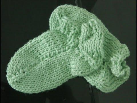 Linkshänder Socken Stricken Super Einfach 1 Elastisches Bündchen