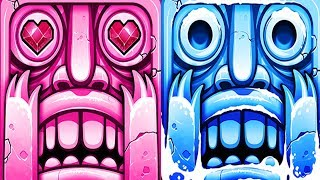 Temple Run 2 Blazing Sands VS Frozen Festival Android iPad iOS Gameplay HD