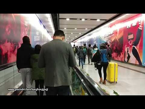 How to walk from MTR Hong Kong Station to Central Station ?