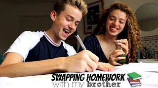 Swapping Homework with my Brother!! Year 13 vs Year 10