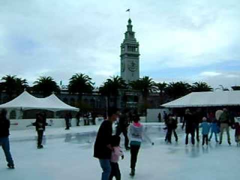 THE HOLIDAY ICE RINK AT EMBARCADERO CENTER PART 1