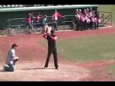 """08 Henry Burris CFL All-Star softball game."" Myk Aussie"