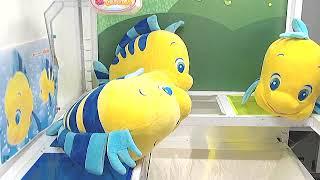 Toreba Online Crane Game Disney The Little Mermaid Flounder Chibis Giga Jumbo Plushy #3