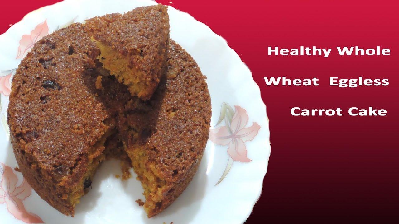 Whole Wheat Carrot Cake Eggless