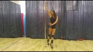 Видео-урок: простой разворот с пилоном (pole-dance exotic) Марина Эргле