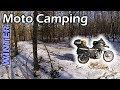 Winter Motorcycle Camping ~ Michigan Manistee Forest Trip × BMW G650GS Sertao Enduro