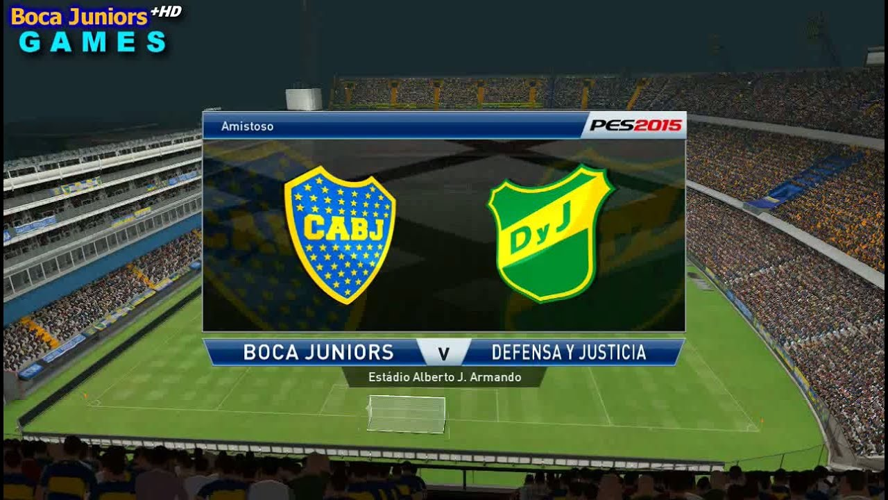 Boca Juniors Vs Defensa Y Justicia Pes 2015 ᴴᴰ Youtube