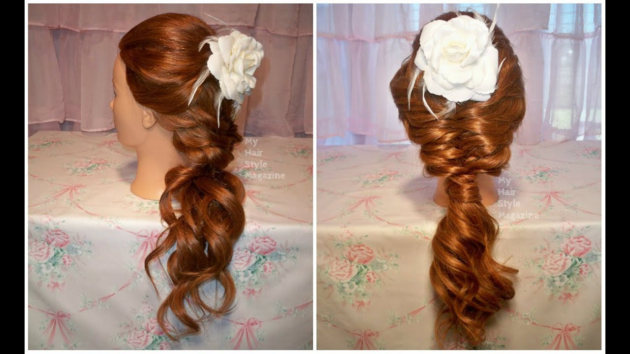 Hair Tutorial Soft Loose Romantic Fishtail Braid Hairstyle For Bridal Wedding