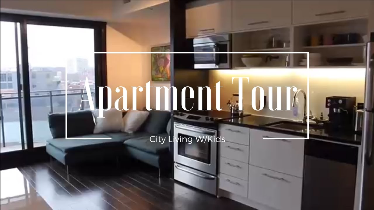 Minimalist apartment tour city living w kids youtube for Minimalist living with children