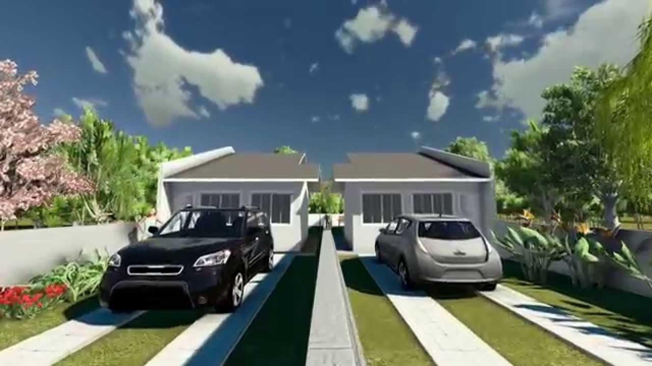 Projetos de casas modelo de uma casa pequena com 2 quartos for Modelos de casas minimalistas pequenas