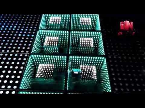 Inspirer Lighting infinity mirror led dance floor - YouTube