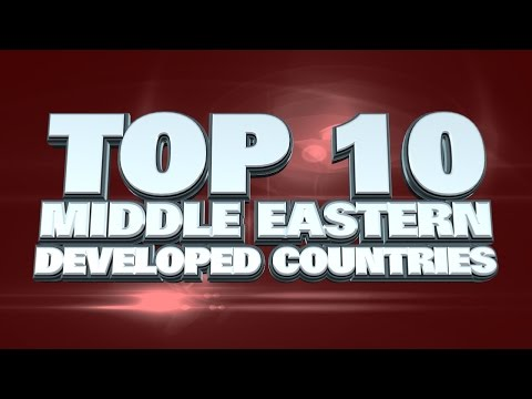 10 most developed countries in the Middle East 2014