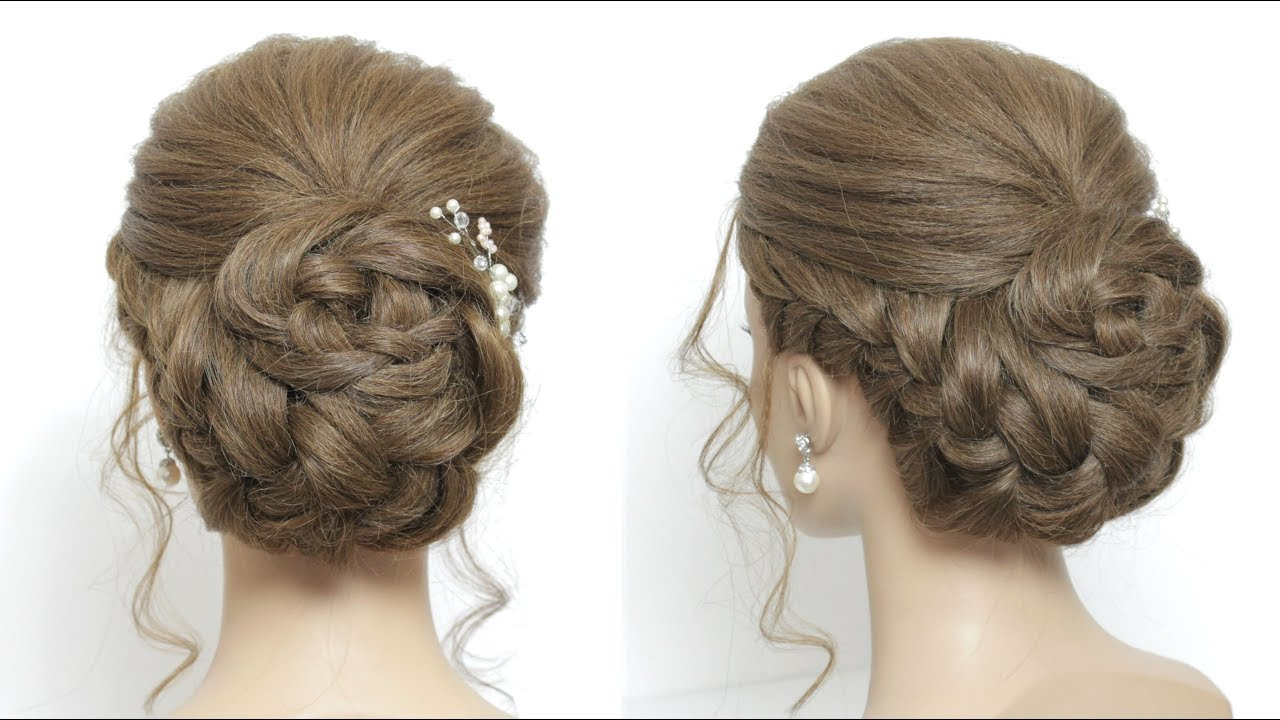 Wedding Updo For Long Hair. Prom Hairstyles - YouTube