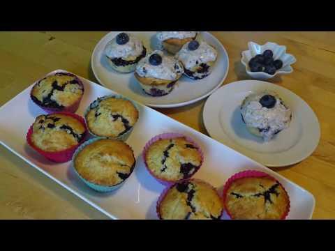 heidelbeermuffins blaubeermuffins mit mascarpone topping