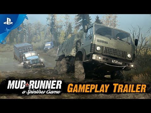 Spintires: MudRunner - Gameplay Trailer | PS4