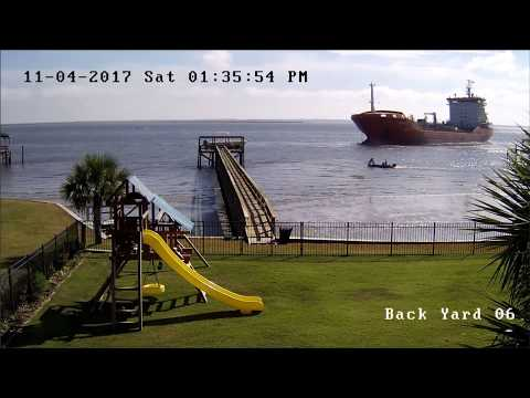 Cape Fear River - Ship runs aground