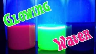 GLOWING WATER Easy Kids Science Experiments