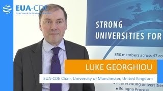 EUA-CDE (Council for Doctoral Education) – Luke Georghiou, EUA-CDE Chair, University of Manchester thumbnail