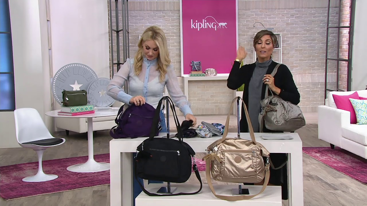 020477bb76f Kipling Convertible Shopper Handbag - Jaleb on QVC