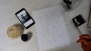 Рисуем позы, силуэты.  FASHION SKETCH. Как рисовать модные эскизы. Советы дизайнера.Урок 8