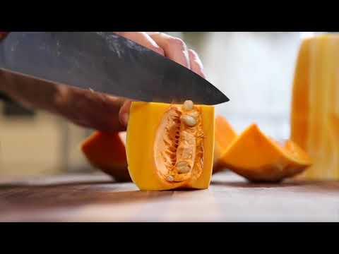 HOW TO EASILY DICE A BUTTERNUT SQUASH
