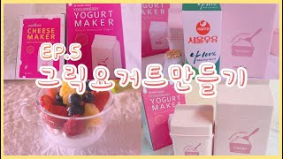 꾸덕꾸덕 그릭요거트(greek yogurt) 만들기 …