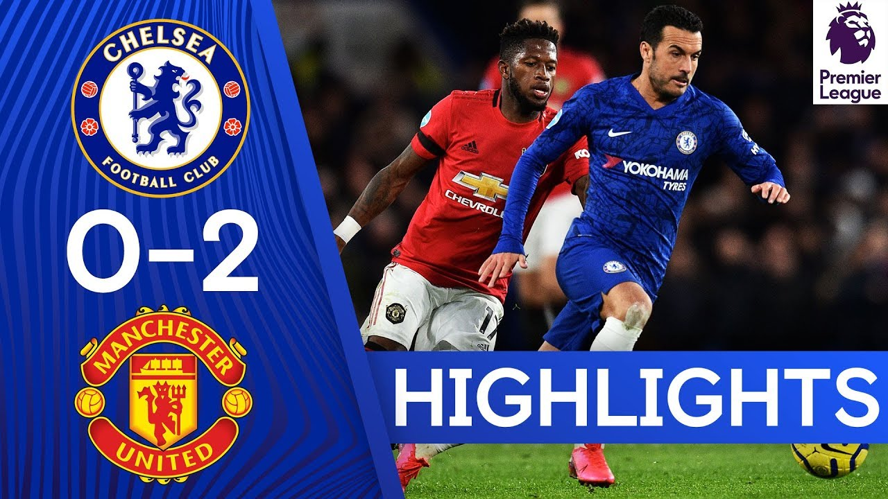 Image result for Chelsea 0-2 Manchester United | Premier League Highlights