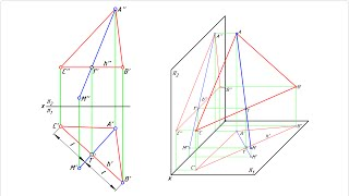 Построение треугольника в заданной плоскости