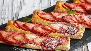 簡単!甘酸っぱい~♡苺パイ | Easy!  Strawberry  Pie
