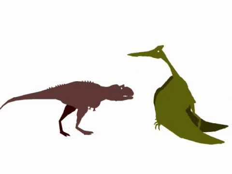Carnotaurus vs quetzalcoatlus