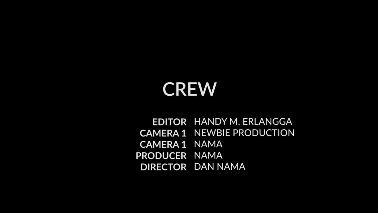 Tutorial Premiere Membuat Credit Ending Di Bagian Akhir Video Film