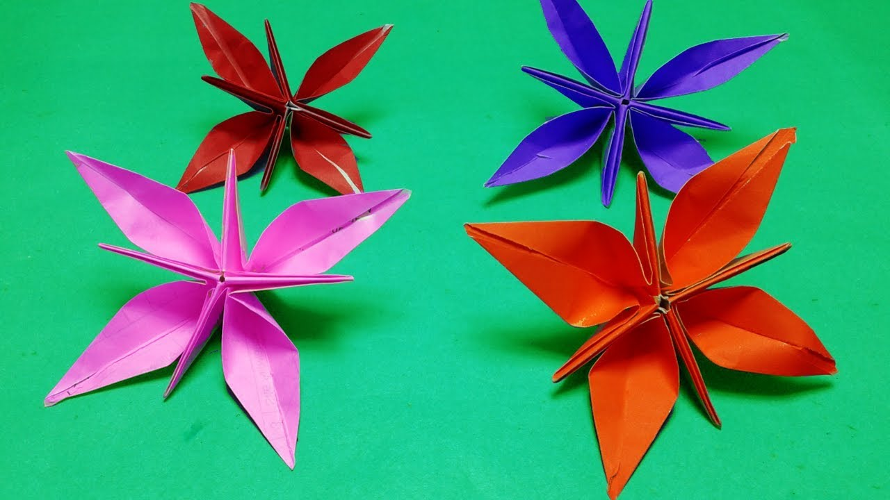 27 Inspired Photo of Paper Origami Flowers | Origami lily, Paper ... | 720x1280