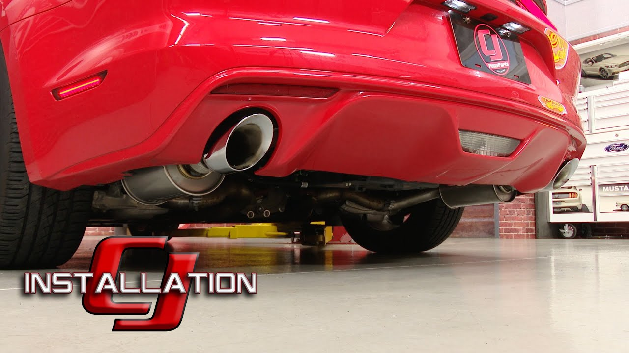 2015 2019 mustang v6 roush axle back exhaust stainless steel installation