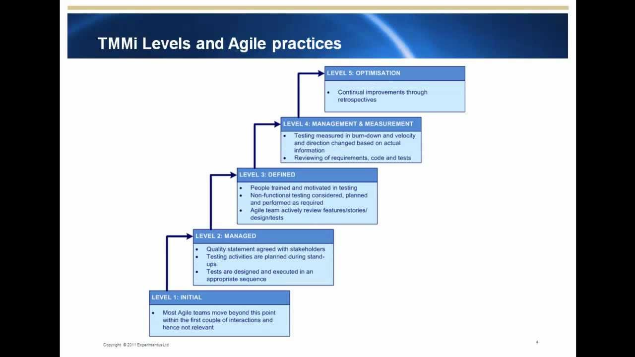 Software testing maturity model