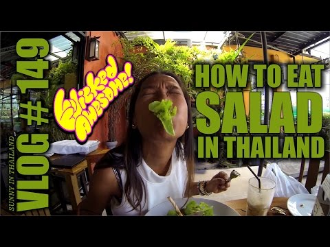 How to eat SALAD in Phuket THAILAND :) Sexy Thai wife style ;)