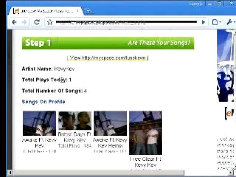 Increase MySpace Music Plays 75000 Free!