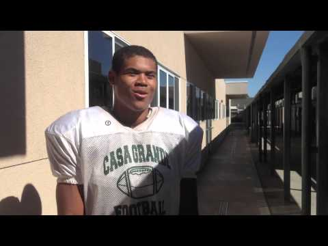 Casa Grande High School quarterback JaJuan Lawson