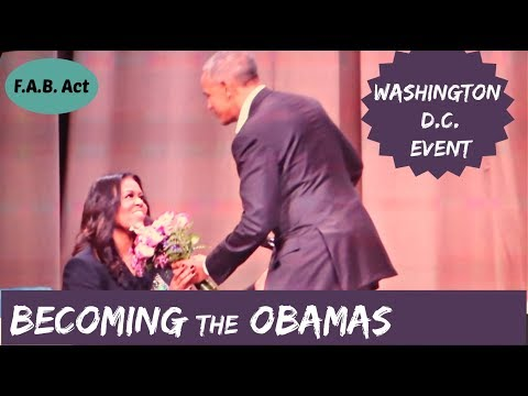 Barack Obama's Surprise Appearance | BECOMING an intimate conversation with Michelle Obama