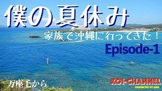 青い空!白い雲!美ら海!夏休みに家族で沖縄旅行!Episode1