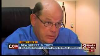First day for Delaware County Sheriff